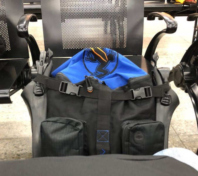 Akona Carry-on Dive Bag at the Roatan Airport