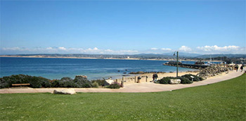 San Carlos Beach Breakwater in Monterey