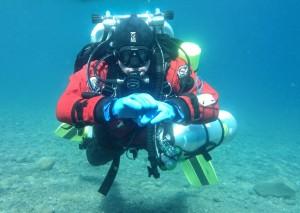 Diving in Hurricane Bay, Lake Tahoe
