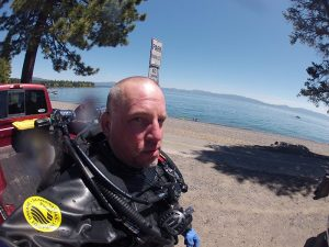 Post Dive at Hurricane Bay, Lake Tahoe