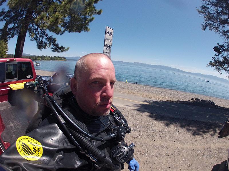 Post Dive at Hurricane Bay, Lake Tahoe