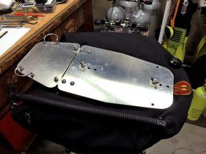 home-built sidemount scuba system